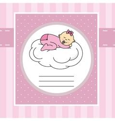 Baby sleeping on a cloud vector image
