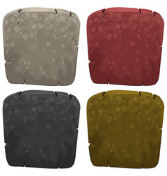 Background templates with stone in four colors vector
