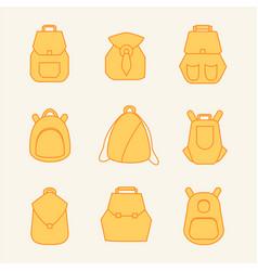 backpack rucksack set vector image