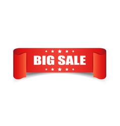 Big sale ribbon icon discount sticker label on vector