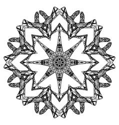 Black round pattern vector