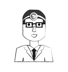Cute doctor cartoon vector
