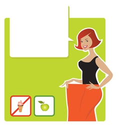Diet result vector image vector image