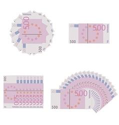 Euro banknotes icon set vector image vector image