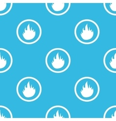 Fire sign blue pattern vector