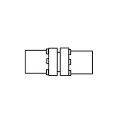 flange icon vector image vector image