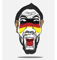 Football fan from german vector