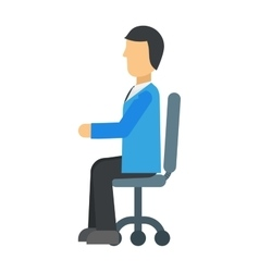 Happy young business man work in modern office on vector image
