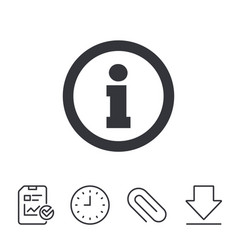 information sign icon info symbol vector image