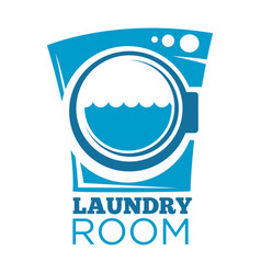 Laundry room sign vector