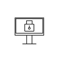 locked pc icon vector image