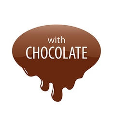 logo drops of melted chocolate vector image