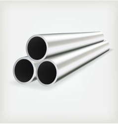 Metal tube vector