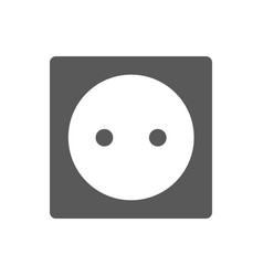 Power socket icon black simple style vector