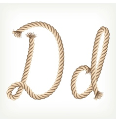 Rope alphabet Letter D vector image vector image