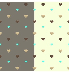 Seamless heart pattern two colours vector image