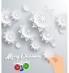 Snowflakes Background Merry Christmas vector image vector image