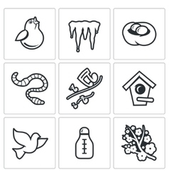 Spring mood Icons vector image vector image