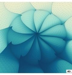 Torsion And Rotation Movement Art Mosaic vector image