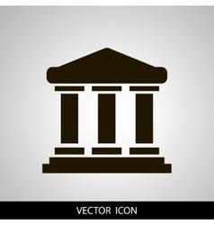 University icon solid vector image
