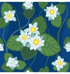 White lotus pattern vector
