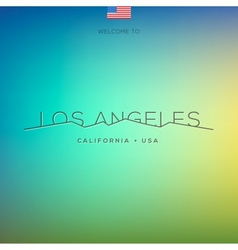 World cities labels - los angeles vector