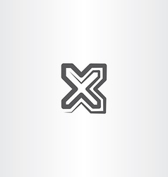Black x letter symbol logo sign icon vector