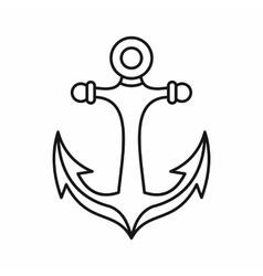 Anchor icon outline style vector image