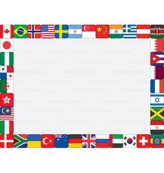 world flag icons frame vector image