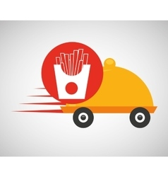 Fast delivery food french fries vector