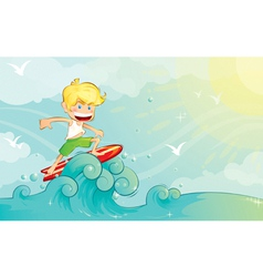 Surf boy vector