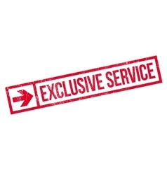 Exclusive service stamp vector