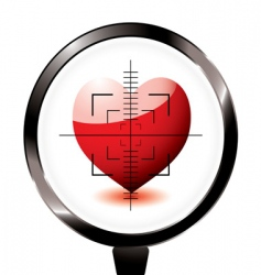 Rifle target heart icon vector