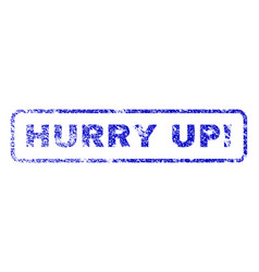hurry up exclamation rubber stamp vector image