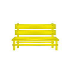 Rural bench in yellow design vector