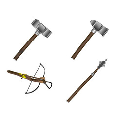 set of weapons vector image