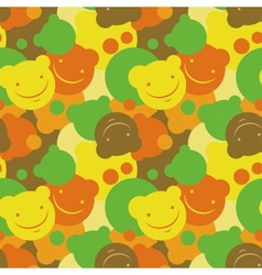 Childrens pattern of smiles vector