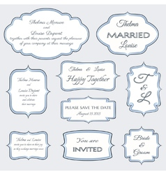 Frames for wedding invitation cards vector