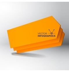 3D orange arrow boards vector image vector image