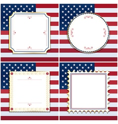 usa frames vector image