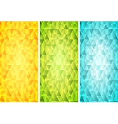 Bright mosaic tech vertical banners vector