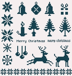 Christmas winter pixels vector