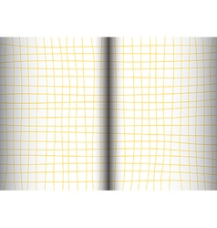 Yellow mustard grid white background open book vector
