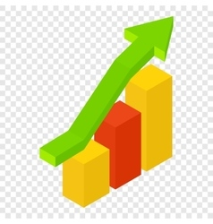 New growth chart isometric 3d icon vector