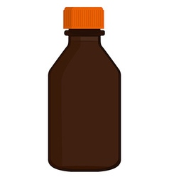 Brown glass bottle vector