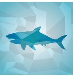 Animal design Polygon concept Shape and Origami vector image