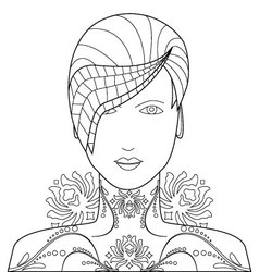 Floral and decorative art of woman vector