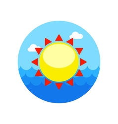 Sun icon summer vacation vector