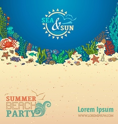 Summer sealife background vector
