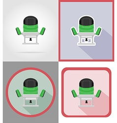 Electric repair tools flat icons 15 vector